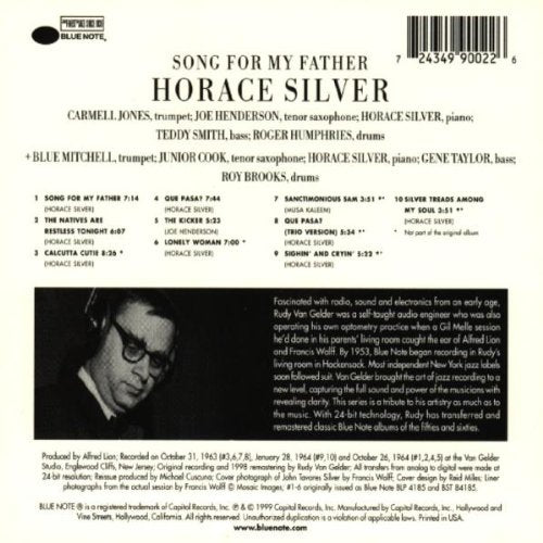 Silver, Horace/Song For My Father [CD]