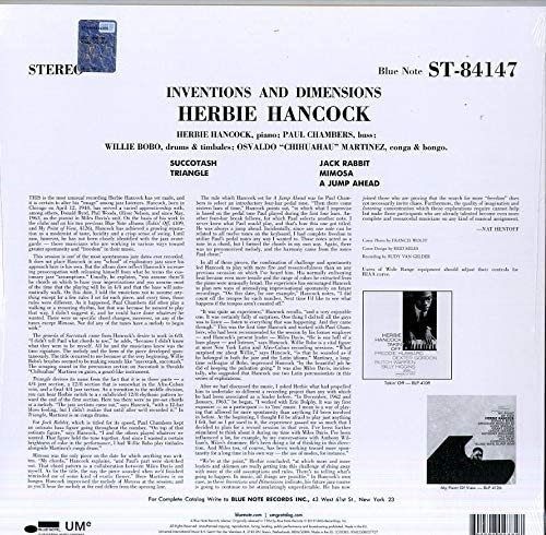 Hancock, Herbie/Inventions & Dimensions [LP]