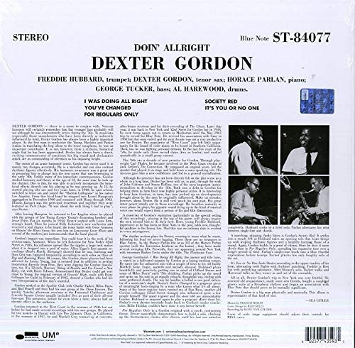 Gordon, Dexter/Doin' Allright [LP]