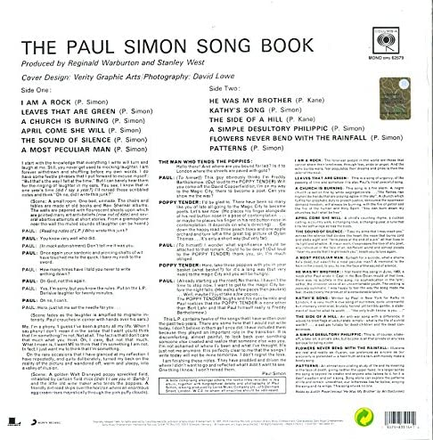 Simon, Paul/Song Book [LP]