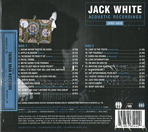 White, Jack/Acoustic Recordings [CD]