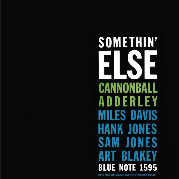 Adderley, Cannonball/Somethin' Else [LP]