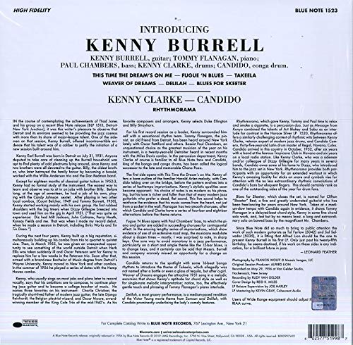 Burrell, Kenny/Introducing (Blue Note Tone Poet) [LP]