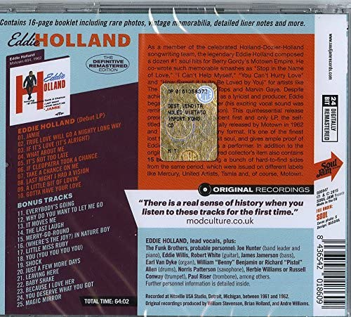Holland, Eddie/The Definitive Remastered Edition [CD]