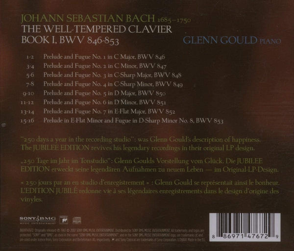Gould, Glenn/Bach: The Well-Tempered Clavier [CD]