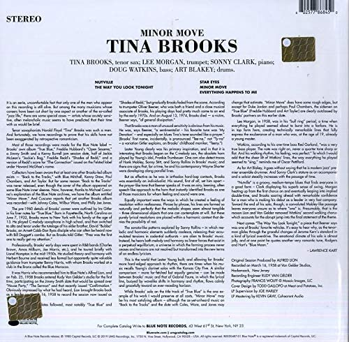 Brooks, Tina/Minor Move (Blue Note Tone Poet) [LP]