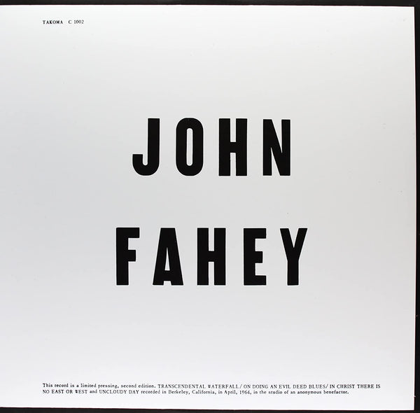 Fahey, John/Blind Joe Death [LP]