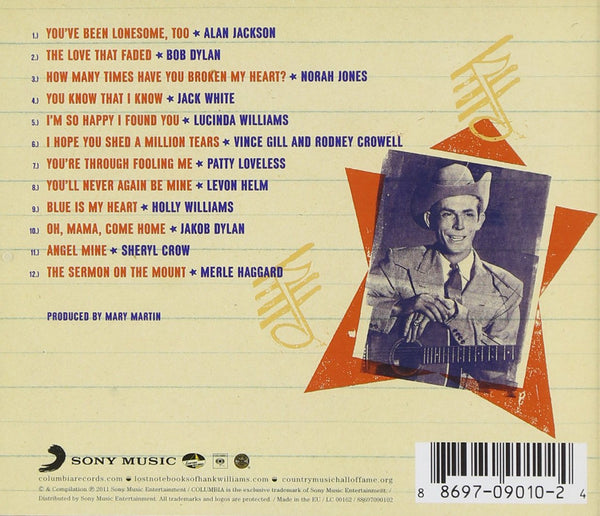 Various Artists/Lost Notebooks of Hank Williams [CD]