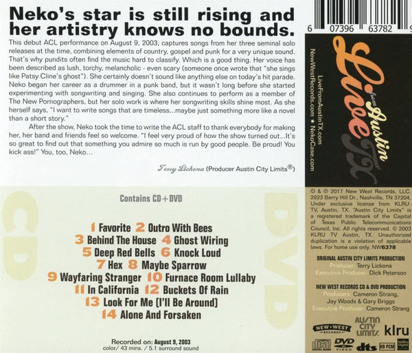 Case, Neko/Live In Austin - Austin City Limits CD/DVD [CD]