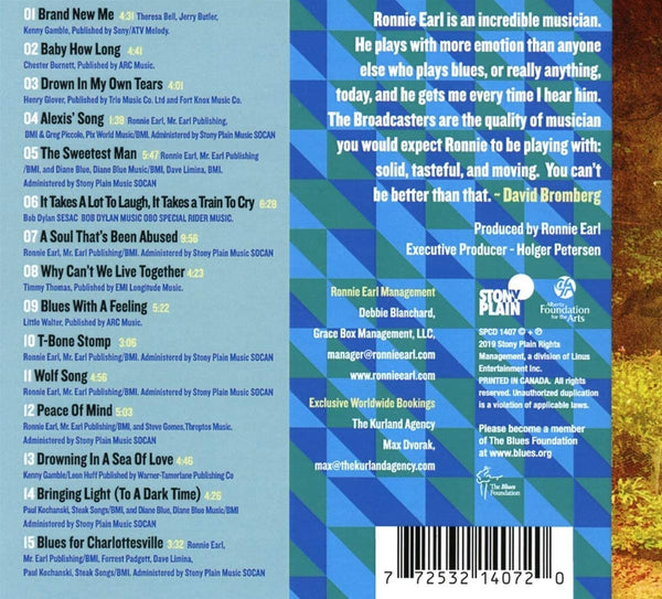 Earl, Ronnie/Beyond the Blue Door [CD]