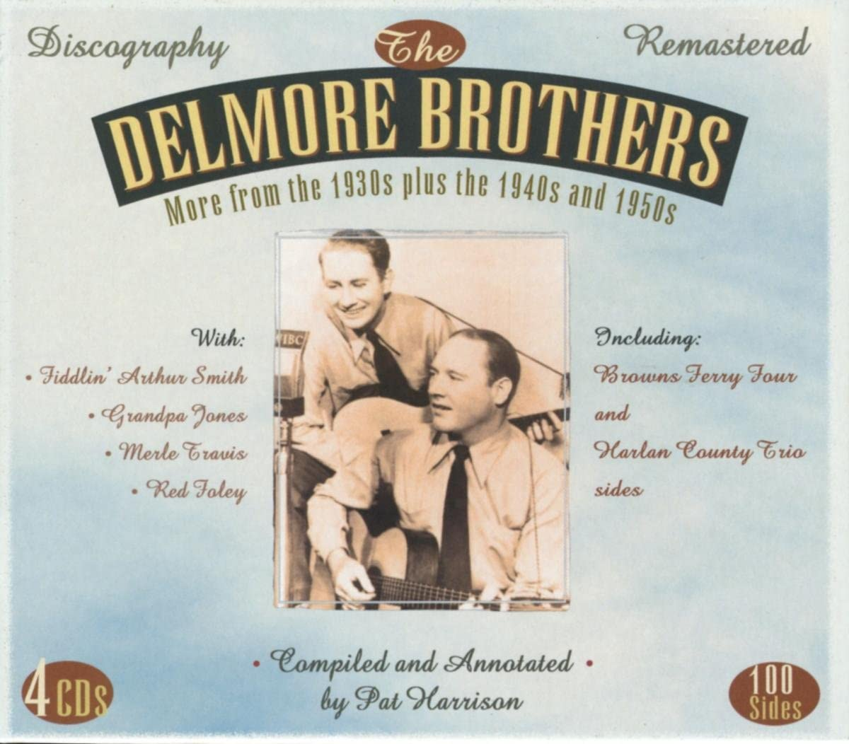 Delmore Brothers/More From the 30s, 40s & 50s (4 CD Box) [CD]