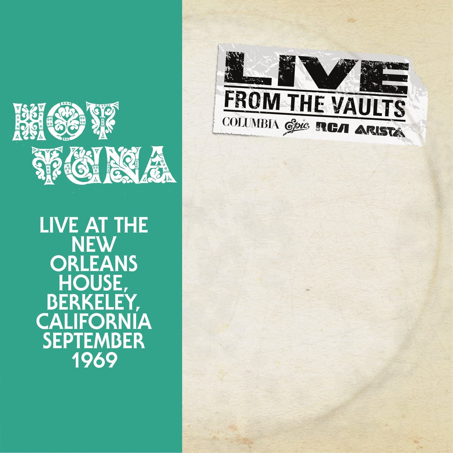 Hot Tuna/Live At The New Orleans House, Berkley California September 1969 (2LP) [LP]