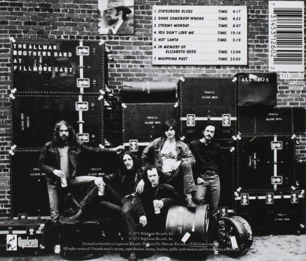 Allman Brothers Band/At Fillmore East [CD]