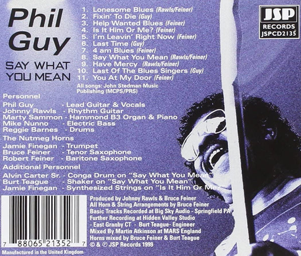 Guy, Phil/Say What You Mean [CD]