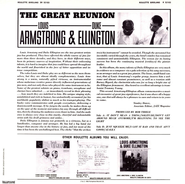 Ellington, Duke & Armstrong, Louis/The Great Reunion [LP]