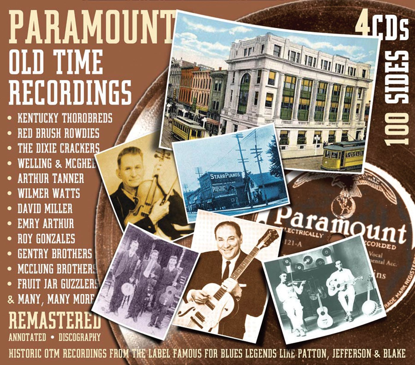 Various Artists/Paramount Old Time Recordings (4 CD Box) [CD]