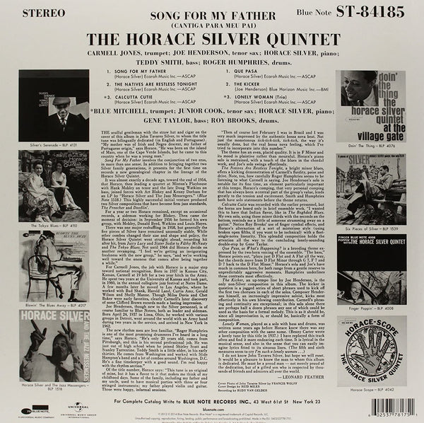Silver, Horace/Songs For My Father [LP]