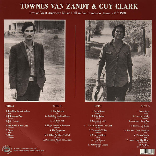 Van Zandt, Townes & Clark, Guy/Live at Great American Music Hall in San Francisco [LP]