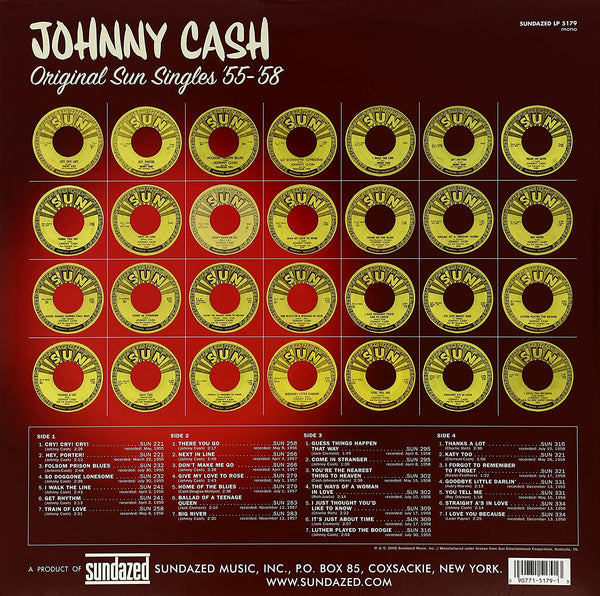 Cash, Johnny/Original Sun Singles '55-'58 (2LP) [LP]