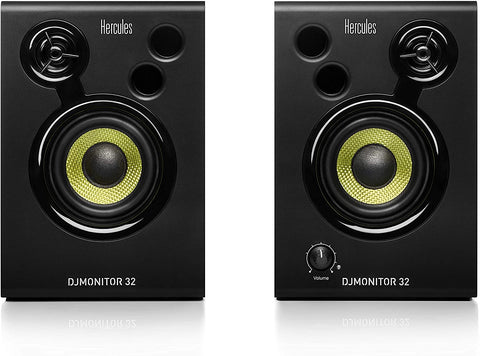 Hercules 32 Active DJ Monitoring Speakers – Black