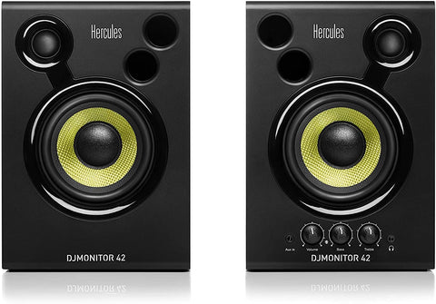 Hercules 42 Active DJ Monitoring Speakers – Black