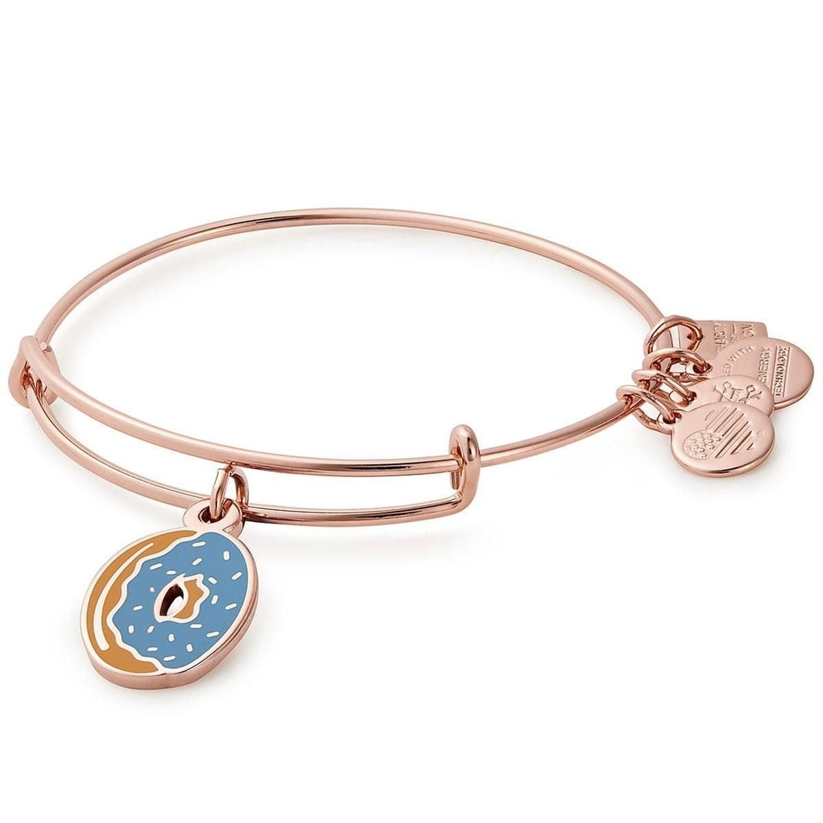 ALEX AND ANI Donut Charm Bangle Bracelet
