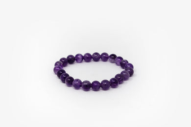 Amethyst Bead Power Bracelet