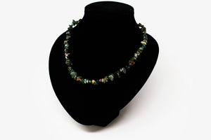 Bloodstone Chip Necklace