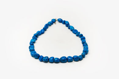 Tumbled Blue Howlite Necklace