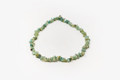 Chrysoprase Chip Necklace