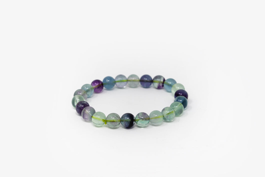 Fluorite Bead Power Bracelet