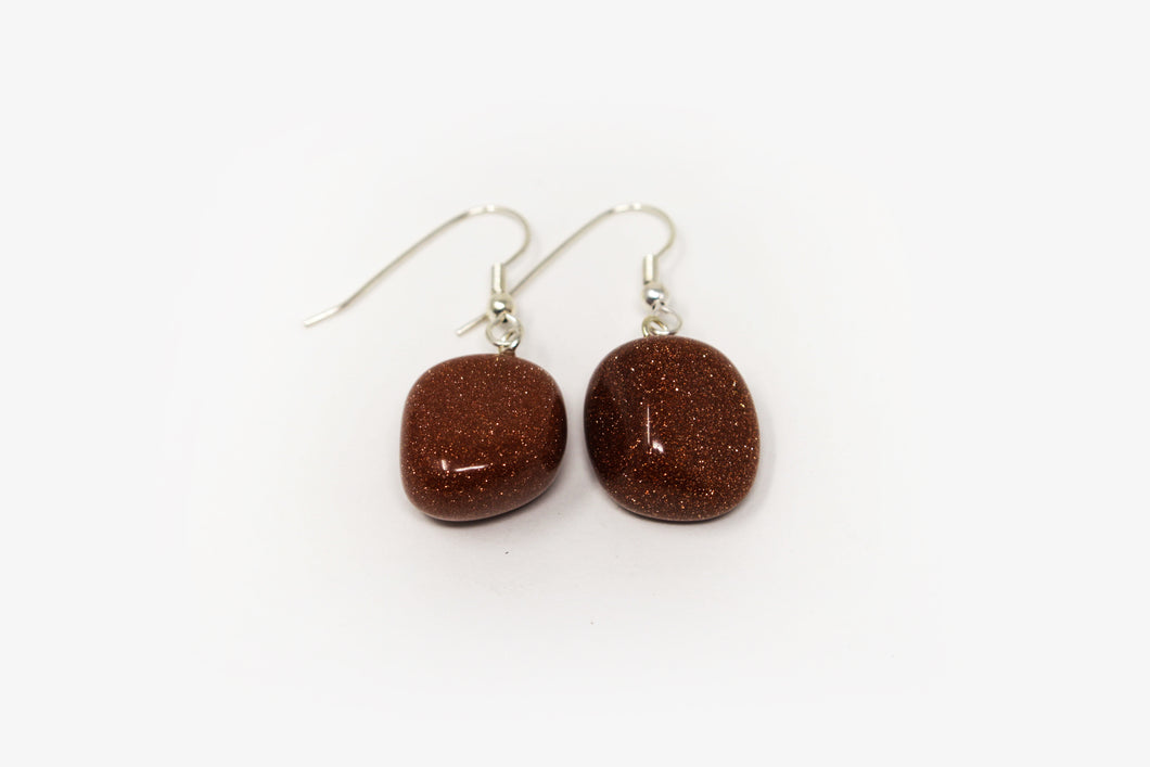 Goldstone Tumbled Earrings