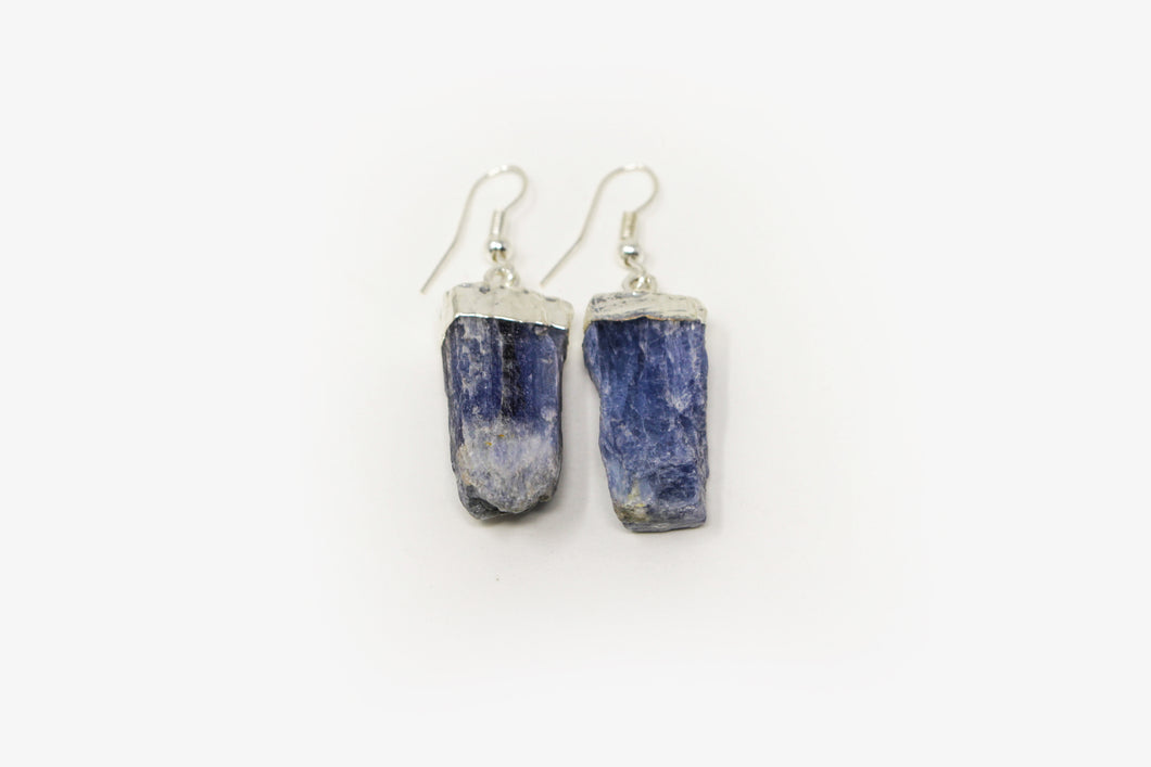 Kyanite Silver Plated Earrings