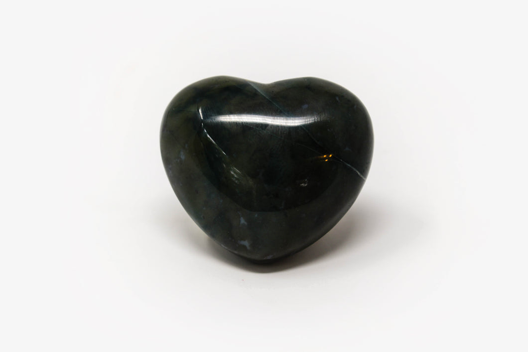 Small Moss Agate Heart