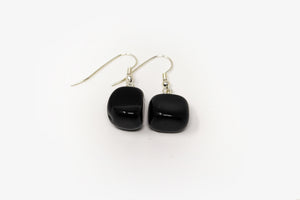 Obsidian Tumbled Earrings