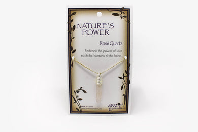 Rose Quartz Nature's Power Necklace