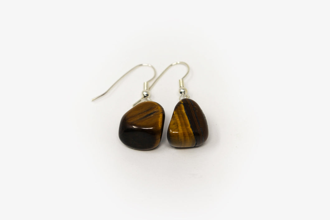 Tiger's Eye Tumbled Earrings