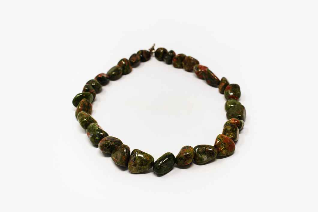 Tumbled Unakite Necklace