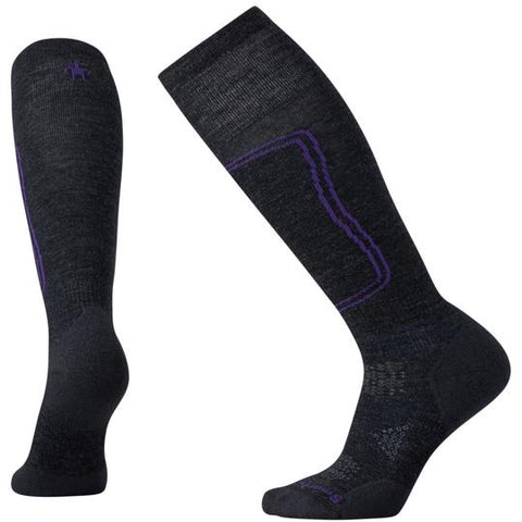 Smartwool Womens  PHD Ski Light Socks- Charcoal
