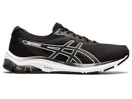 Asics Mens Gel Pulse 12 (4E)- Black/White