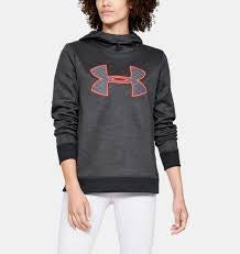 Under Armour Womens Fleece Pull Over Hoodie- Charcoal