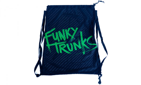 Funky Trunks Mesh Gear Bag- Still Black