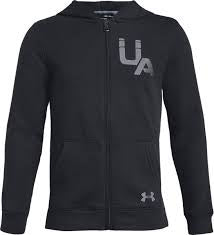 Under Armour Kids Rival Fleece Full Zip Hoody-Black