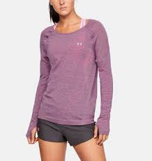 Under Armour Womens Vanish Seamless Keyhole Spacedye Top- Purple
