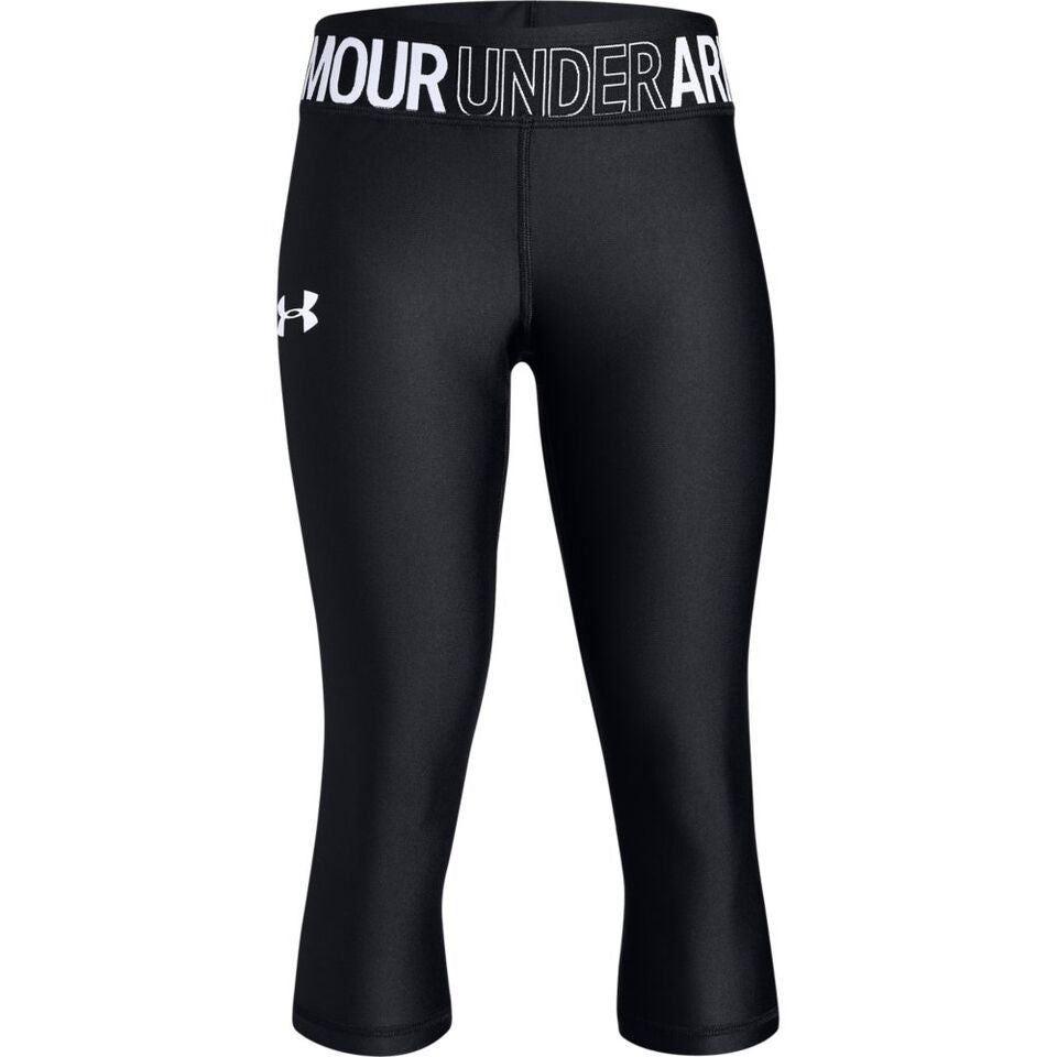 Under Armour Girls Heat Gear Armour Capri- Black