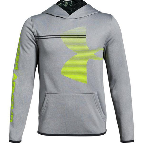 Under Armour Boys Armour Fleece Hoody- Steel Grey