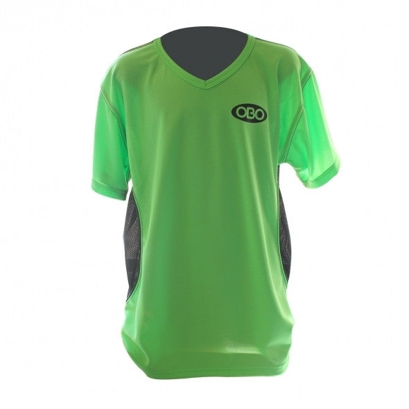 OBO SHORT SLEEVE TIGHT FIT SHIRT GREEN/BLACK