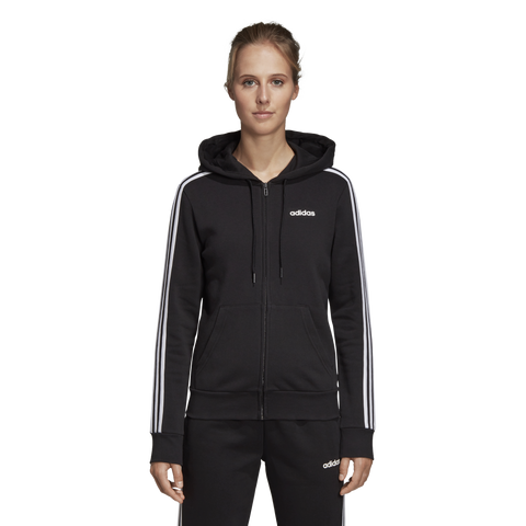 Adidas Womens 3 Stripe Fleece Hoody