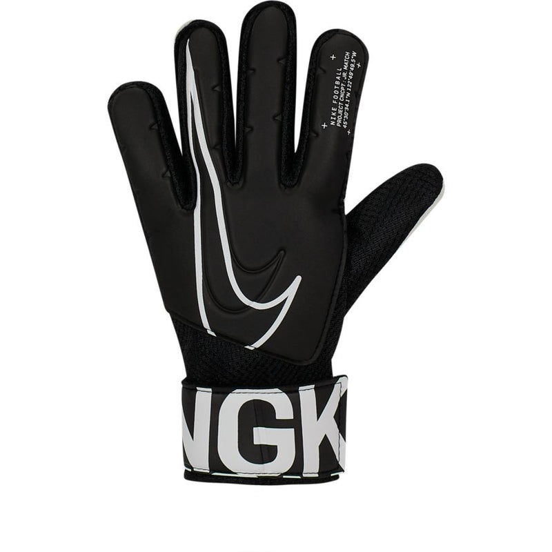 Nike Jr. Match Goalkeeper  Kids' Soccer Gloves - Black/White
