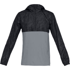 Under Armour Mens Wind Anorak- Black/Grey